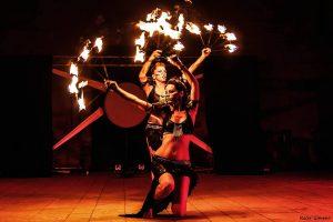 Espectáculo fuego Besalú