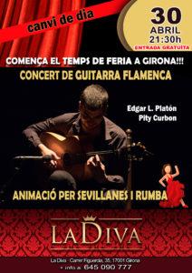 Concierto guitarra flamenca, animación sevillanas y rumba