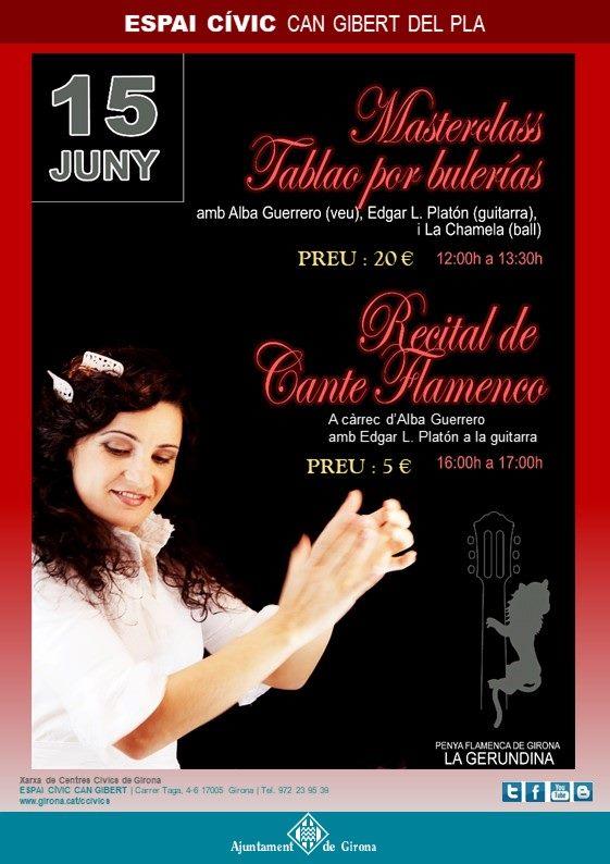 master tablao bulerías y recital cante flamenco