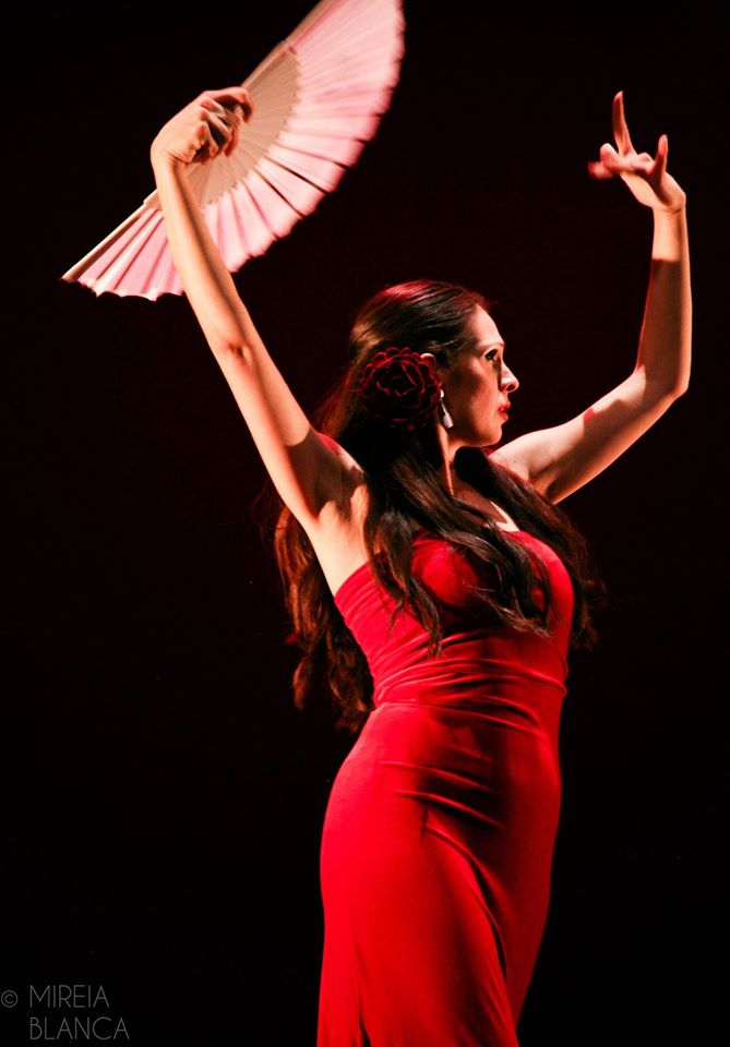 Curso flamenco guajira abanico girona